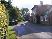 TM3569 : Entering Peasenhall on Sibton Road by Geographer