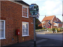 TM3464 : Rendham Village Sign by Adrian Cable