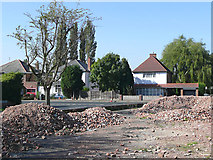 SO9096 : Birchwood Road and building site, Penn, Wolverhampton by Roger  Kidd