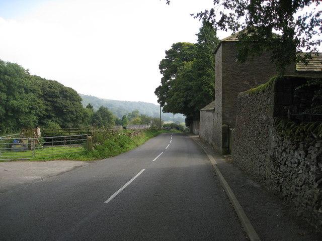 Road passing Eyam View Farm