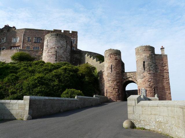 Bamburgh Castle main entrance