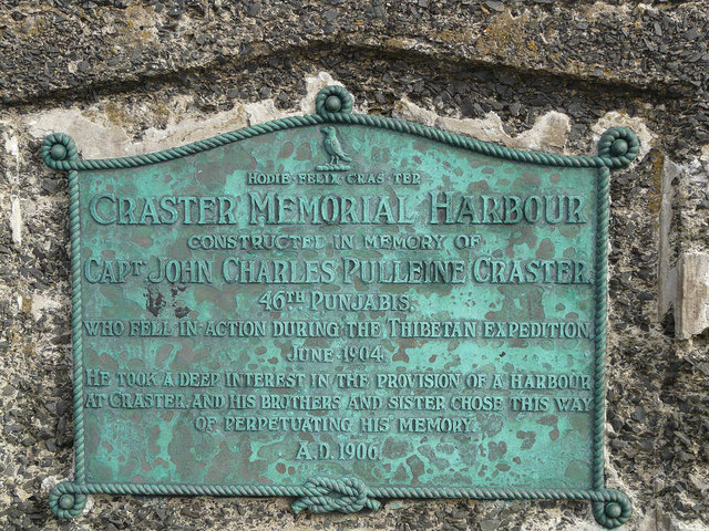 Craster Harbour Memorial Plaque