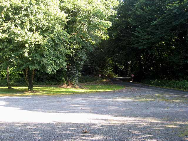 Entrance to the Forest car park at Florence Court