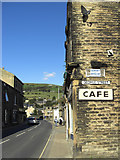 SE0125 : New Road, Mytholmroyd by michael ely