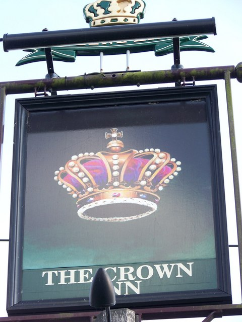 Sign for the Crown Inn, Newick