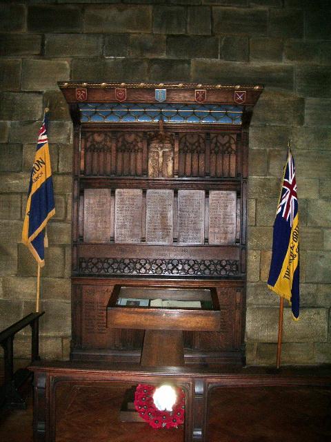 The Parish Church of St Paul, King Cross, War Memorial