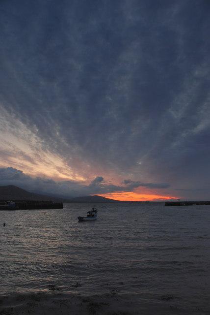 Sunrise over Carlingford lough