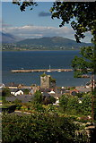 J1811 : Taaffe's Castle and Carlingford Harbour by Norman McMullan