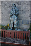 SN7634 : Statue of a Drover, Llandovery by Philip Halling