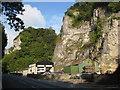SK2275 : Stoney Middleton - View opposite Goddards Quarry by Alan Heardman
