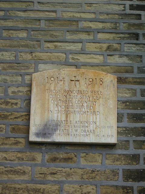 War Memorial, St Mary's Parish Church, Illingworth