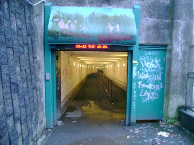 Clyde Tunnel pedestrian entrance
