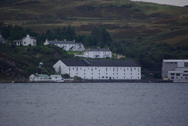 Caol Ila Distillery, Islay, seen from Jura