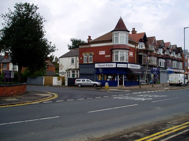 Taylor Road at junction with Alcester Road, Birmingham, B13