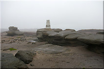 SK0787 : Trig pillar on Kinder Low by Phil Champion