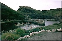 SX0991 : Boscastle Harbour by Sarah Charlesworth