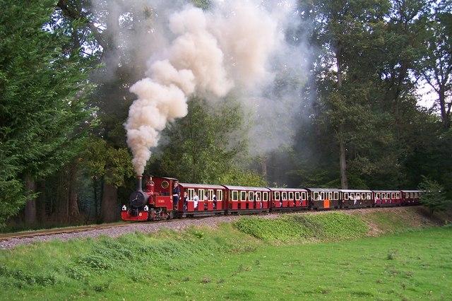Longleat Railway - No.6 John Hayton climbing the bank