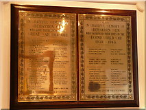 SN4562 : War Memorial Plaque by Harry Hayfield