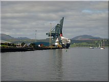 NS2876 : West along the Greenock waterfront by Stephen Sweeney