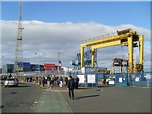 NS2776 : Greenock container terminal by Stephen Sweeney