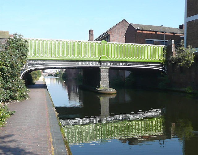 Barker Bridge over the Birmingham and Fazeley Canal