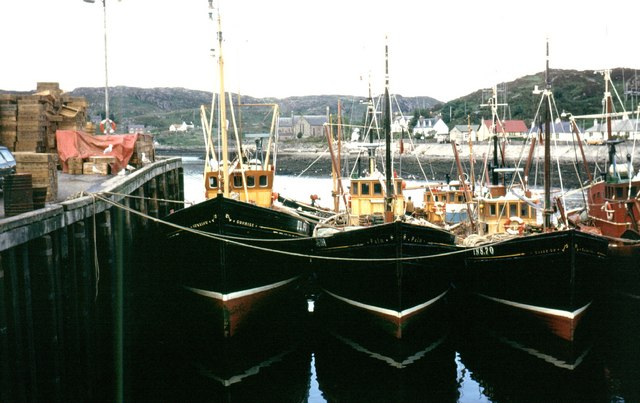Trawlers Lined-up at the Pier, Lochinver
