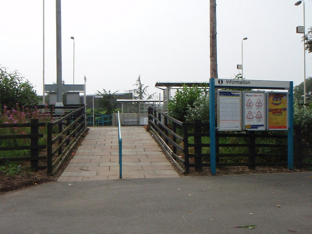 Newton Aycliffe railway station entrance