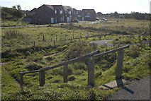 SD3648 : Access path to new housing estate,near Knott End by Tom Richardson