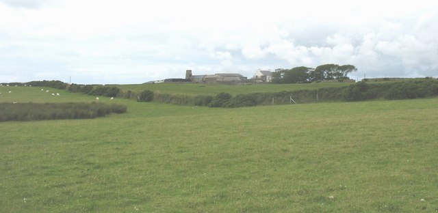 View across to Geirn Farm and the disused Geirn Mill