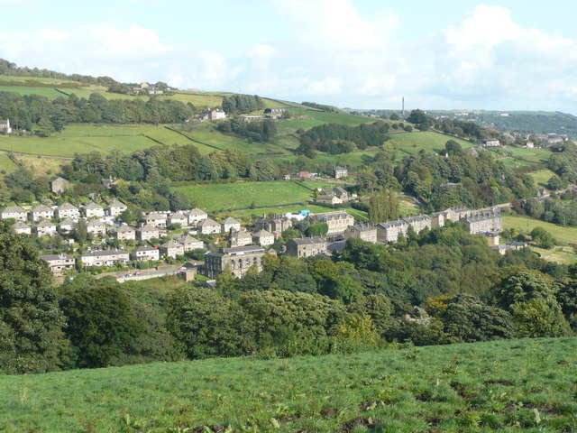 View of the Burnley Road area of Luddenden Foot