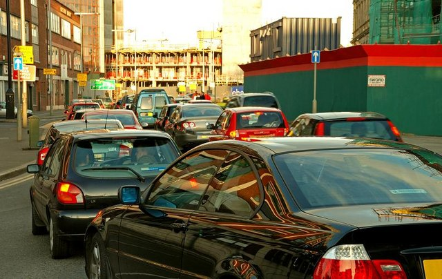 Evening peak traffic, Belfast (1)