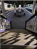 SX9193 : Steps, St David's station, Exeter by Derek Harper