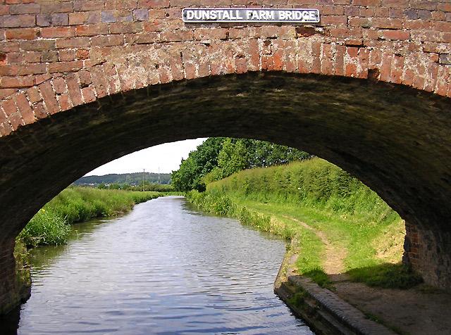 Through Dunstall Farm Bridge near Hopwas, Staffordshire