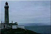 NM4167 : View past the lighthouse from Ardnamurchan Point by Sarah Charlesworth